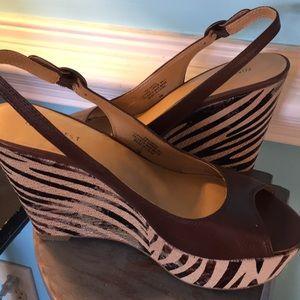 """Nine West Shoes - Nine West Larita Dark Brown 4"""" Wedge -"""